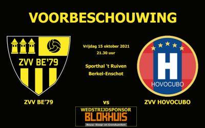 Voorbeschouwing: ZVV BE'79 vs ZVV HOVOCUBO